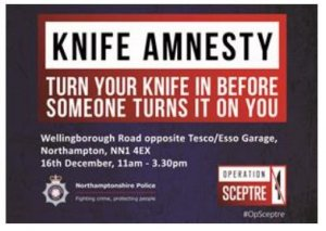 Knife Amnesty Event 16th December